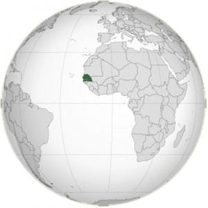 Senegal On The Globe
