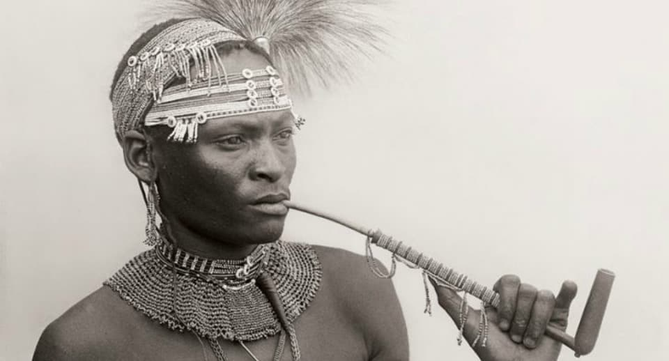 Xhosa Man With Pipe