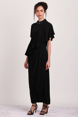 A-Symmertic Drape Dress