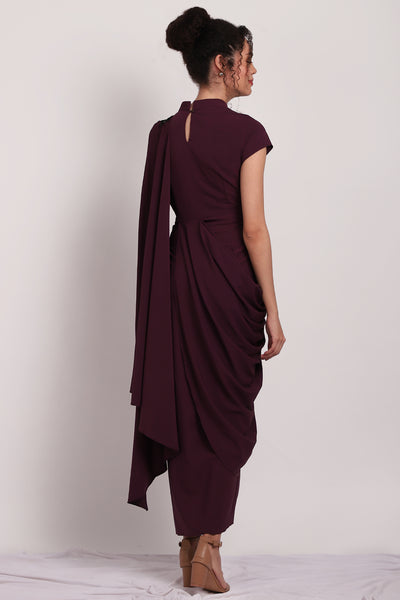 Pleated Sari Dress