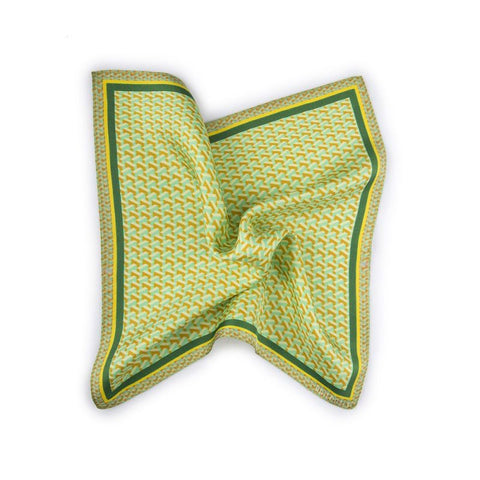 Martillo Printed Silk Pocketsquare