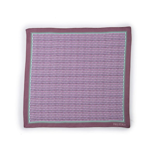 Purple Herbis Printed Silk Pocketsquare