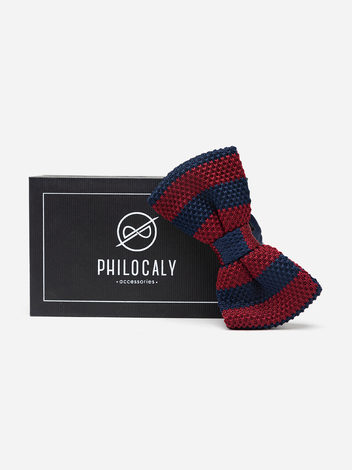Red And blue Cotton Knitted Bowtie
