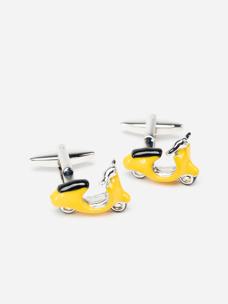 Yellow Vespa Cufflinks