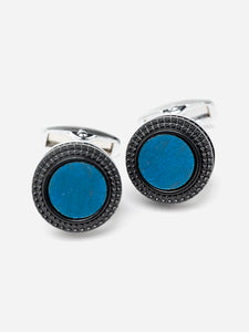 Blue And Black Stone Insert Cufflinks