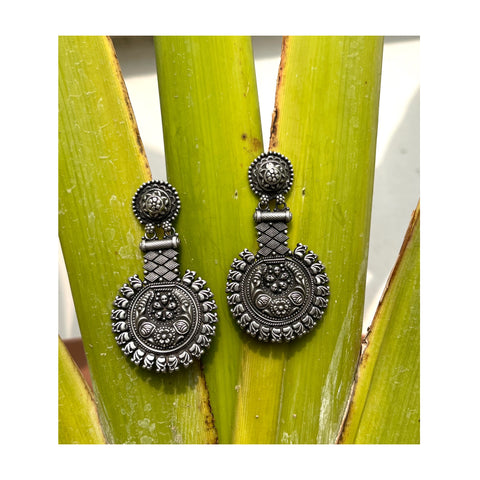 Tribal Sterling Silver Handcrafted Earrings