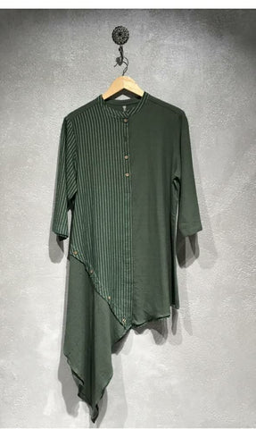 100% Handwoven Cotton A-Symmetrical Tunic