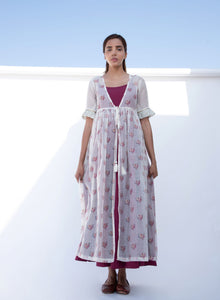 Masakali Wine Jacket Set