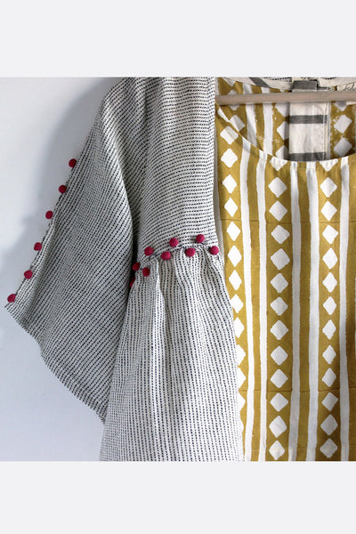 Handwoven cotton shrug