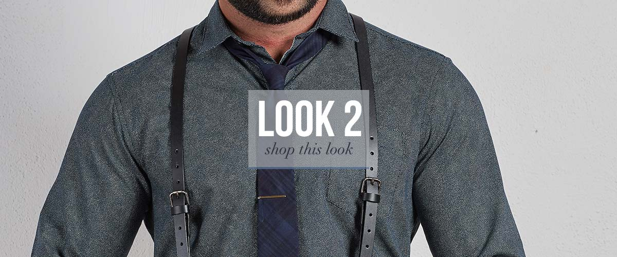 Tie and Suspenders look for men