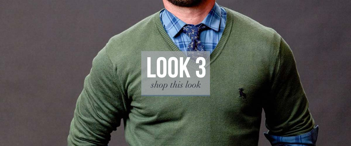 V Neck Sweater Look for Men