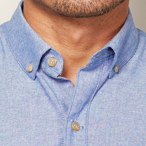 Solid Blue Chambray Shirt - Chucky