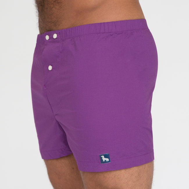 Solid Purple Boxer Short - Darin