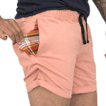 The 'Paradise' Cotton Stretch Twill Short in Pink
