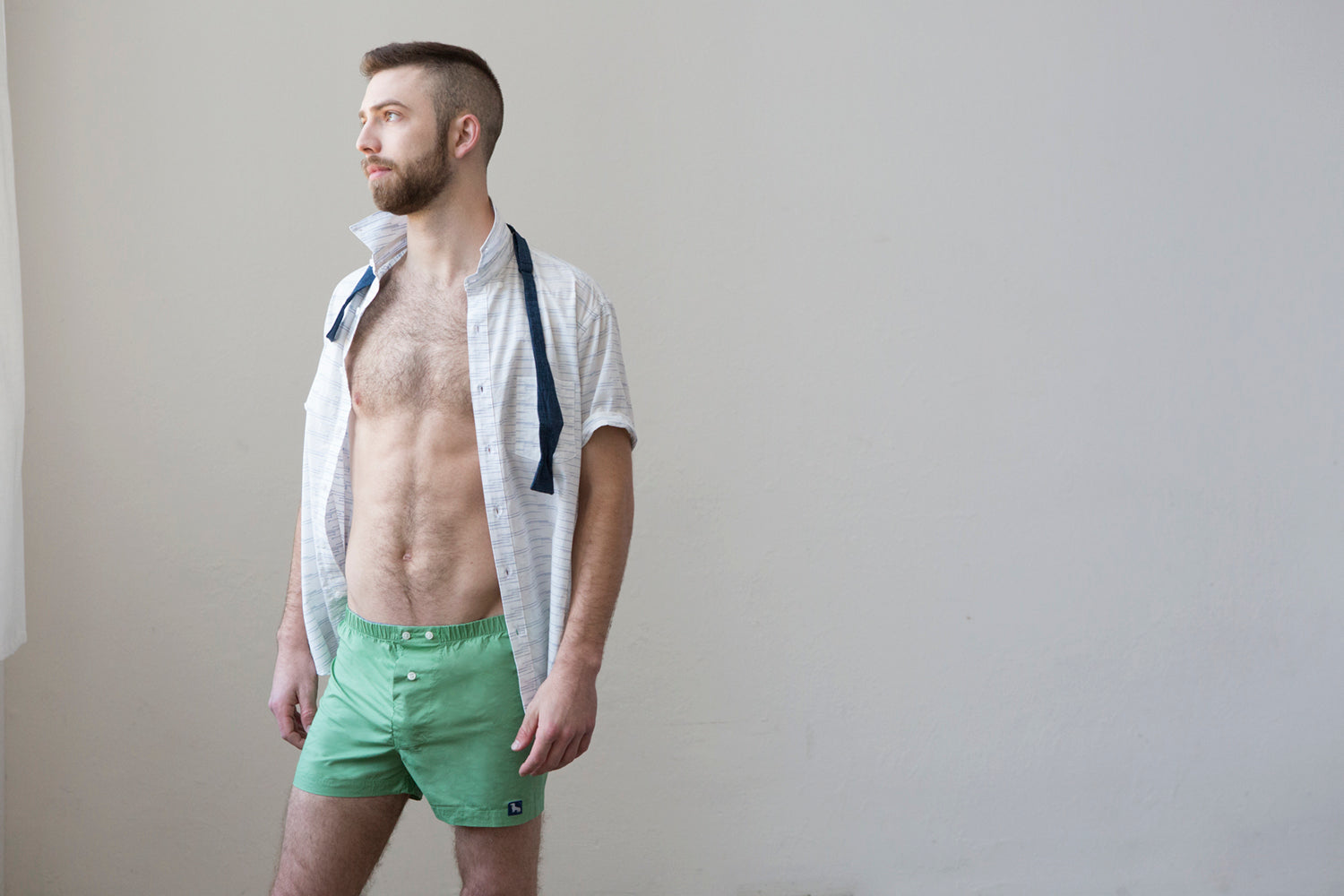 Solid Bright Green Boxer Short - Jens