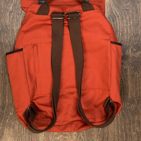 Orange Twill Backpack