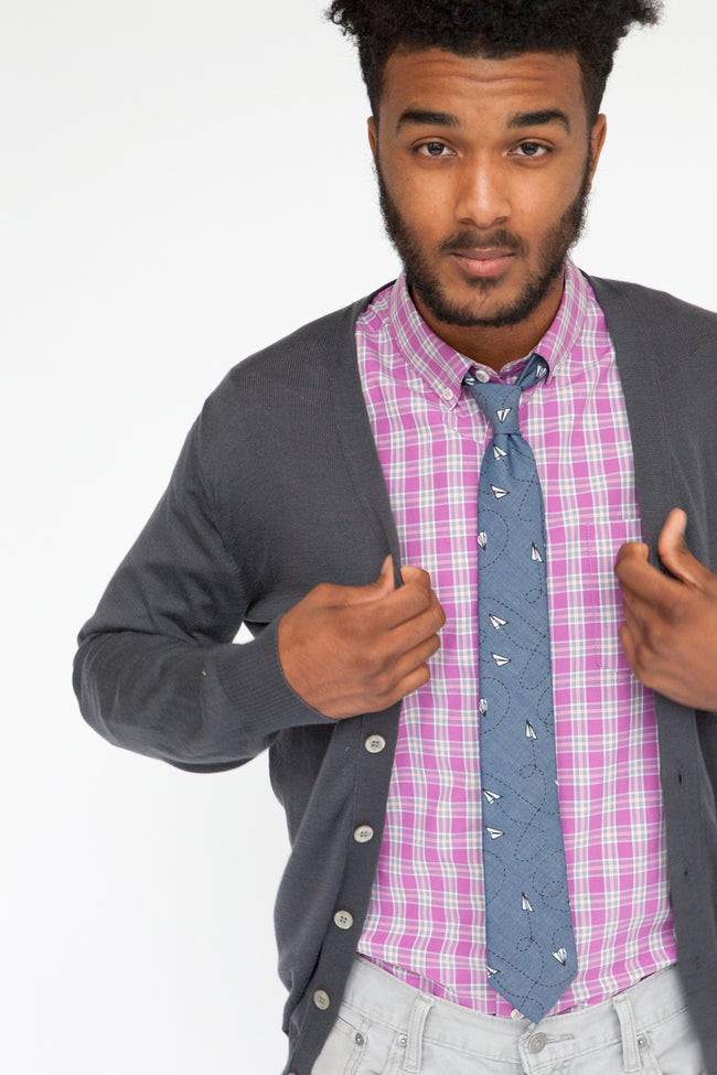Pink Mini Check Cotton Shirt - Chipper