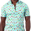 Aqua Blue Ice Cream Popsicle Print Shirt - David