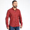 Tomato Red with Japanese Swirl Print Shirt - Zenith