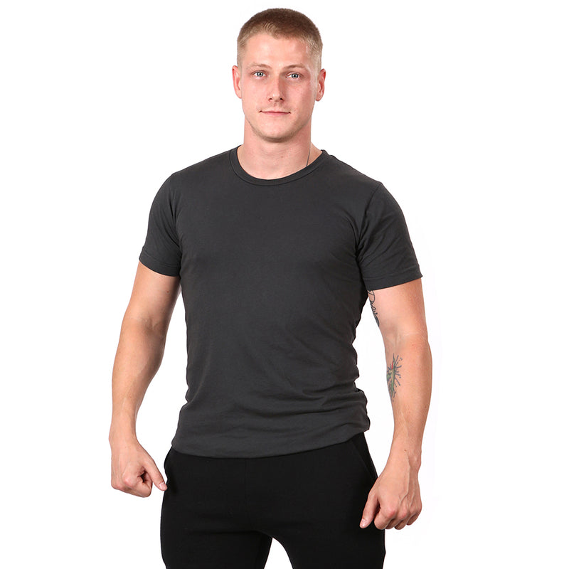 Soft Black Garment Dyed Cotton Tee - Made in USA