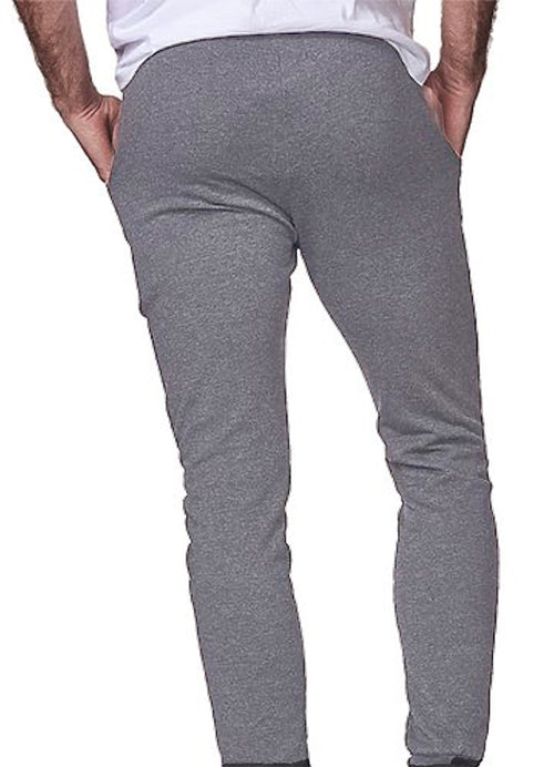 Ash Grey Heather ECO-Friendly Organic Cotton / Recycled Poly Lightweight Jogger Sweatpants Made in USA
