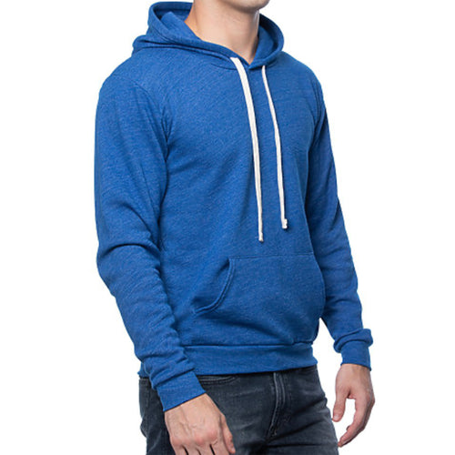Royal Blue Popover Hooded Fleece Sweatshirt - Made in USA
