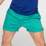 The 'Paradise' Stretch Twill Short in Aqua Blue