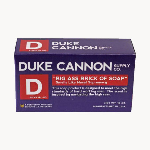 "Duke Cannon Big Ass Brick of Soap - ""Naval Supremacy"" Ocean Scent"