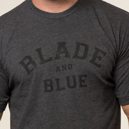 Grey & Black Blade + Blue Tee Size S Available