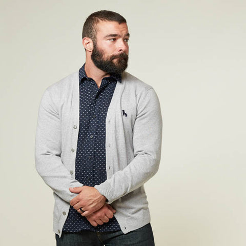 Grey Cardigan for Men