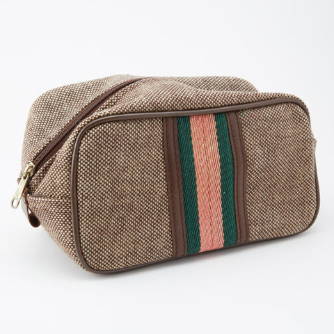 Vintage Tweed Toiletry Bag