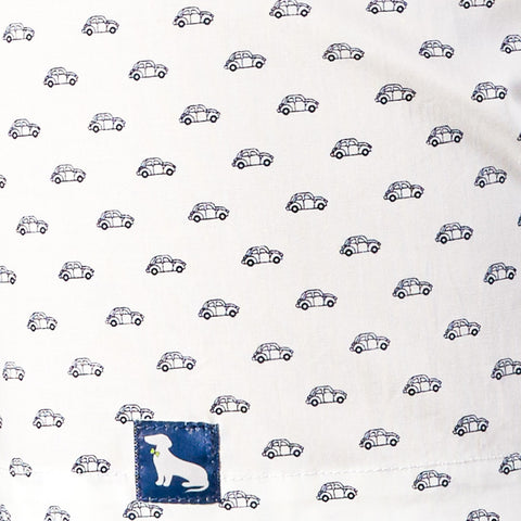 White Car Print Boxer Short - Bugg