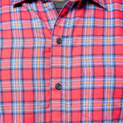 Red & Navy Plaid Flannel Shirt - Hamilton