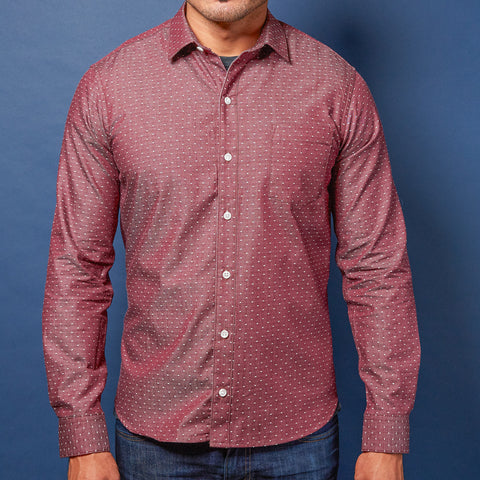 Rust Plaid Brushed Cotton Shirt - Rodney