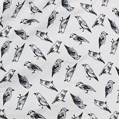 Bird Print on White Boxer Short