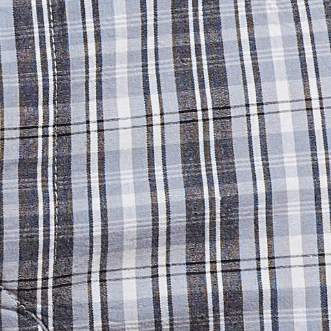 Black, Grey & White Plaid Boxer Short - Charlie