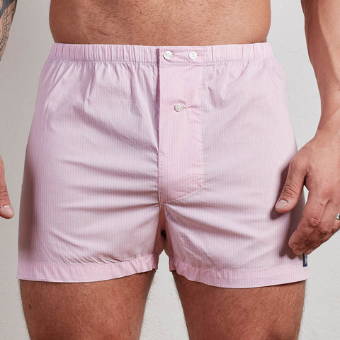 Pink & White Stripe Boxer Short - Jimmy