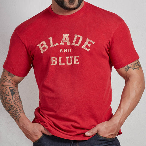 Red Blade + Blue Tee
