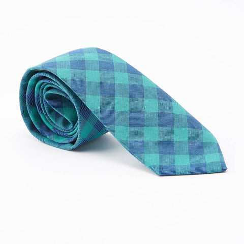 Green Buffalo Check Tie