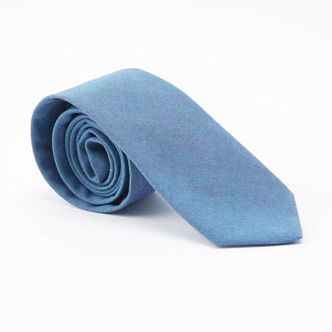 Japanese Indigo Dyed Navy Circle Print Tie