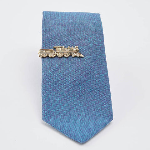 Vintage Brass Train Tie Clip