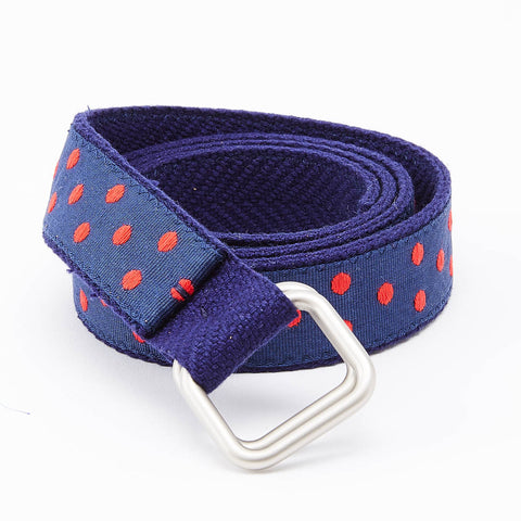 Red & Blue Polka Dot Belt