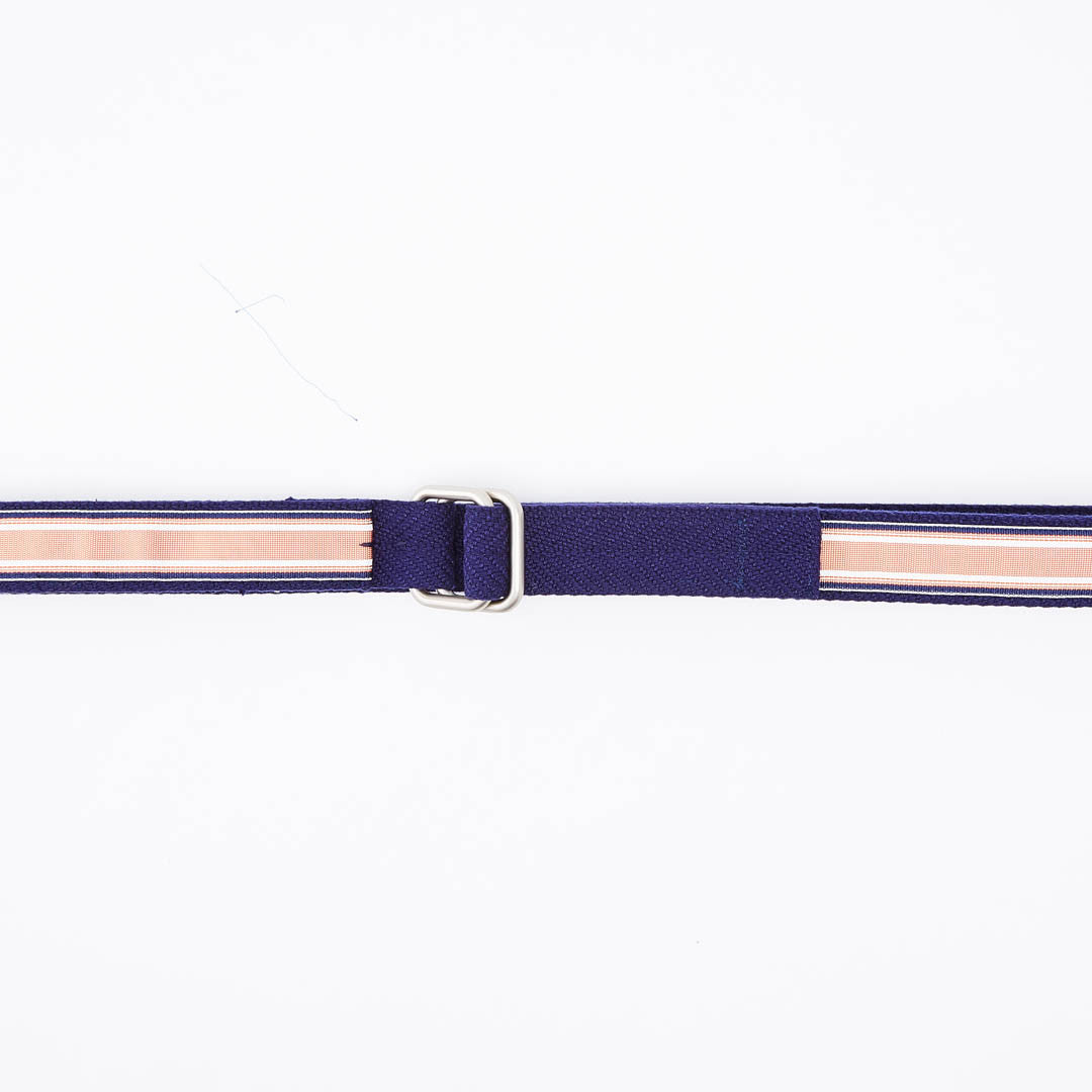 Blue & Orange Stripe Belt by One Magnificent Beast