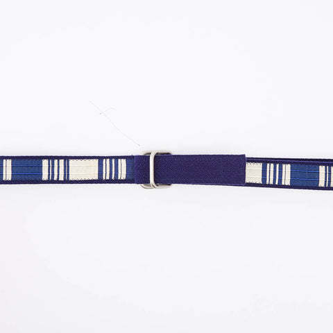 Blue & White Stripe Belt by One Magnificent Beast