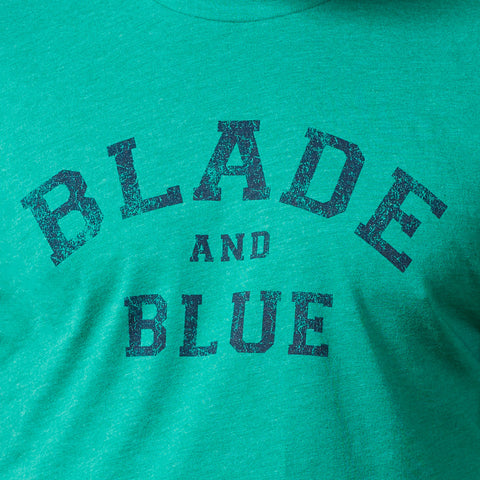 Green & Navy Blade + Blue Tee