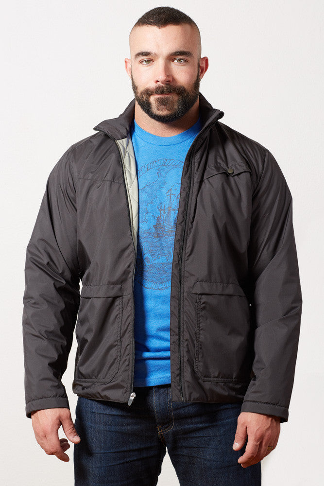 Black Lightweight Puffer Jacket