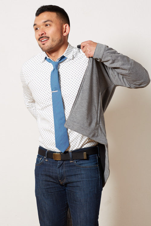 Solid Light Aqua Blue Tie