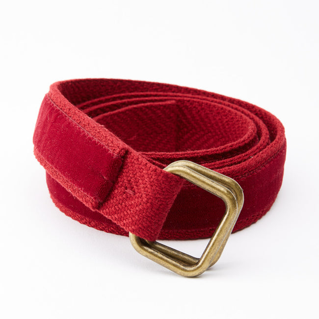 Red Velvet Belt by One Magnificent Beast