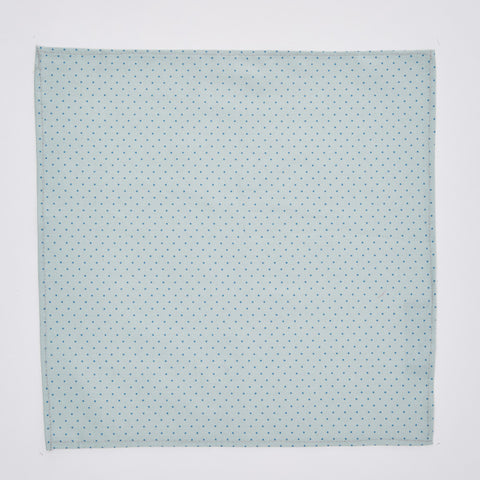 Mint Blue Pin Dot Pocket Square