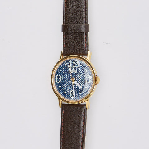 Vintage 1970's Timex Watch with 'Blue Denim' Dial